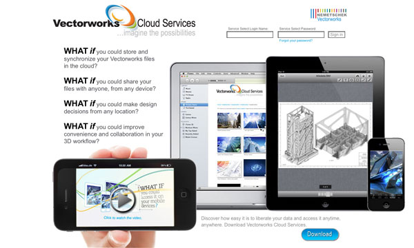 Vectorworks Cloud Services Portal